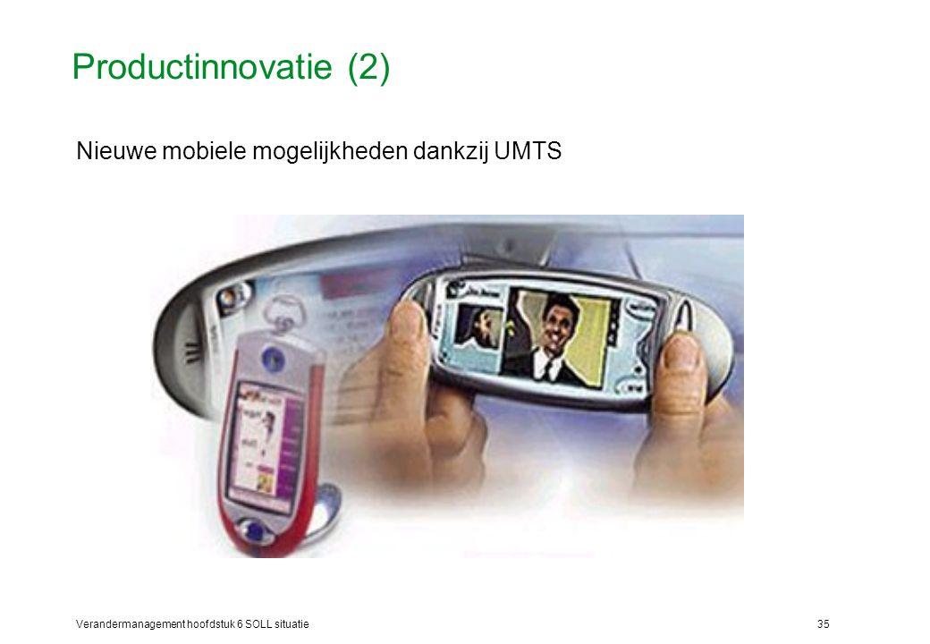 Productinnovatie (2) Nieuwe mobiele mogelijkheden dankzij UMTS