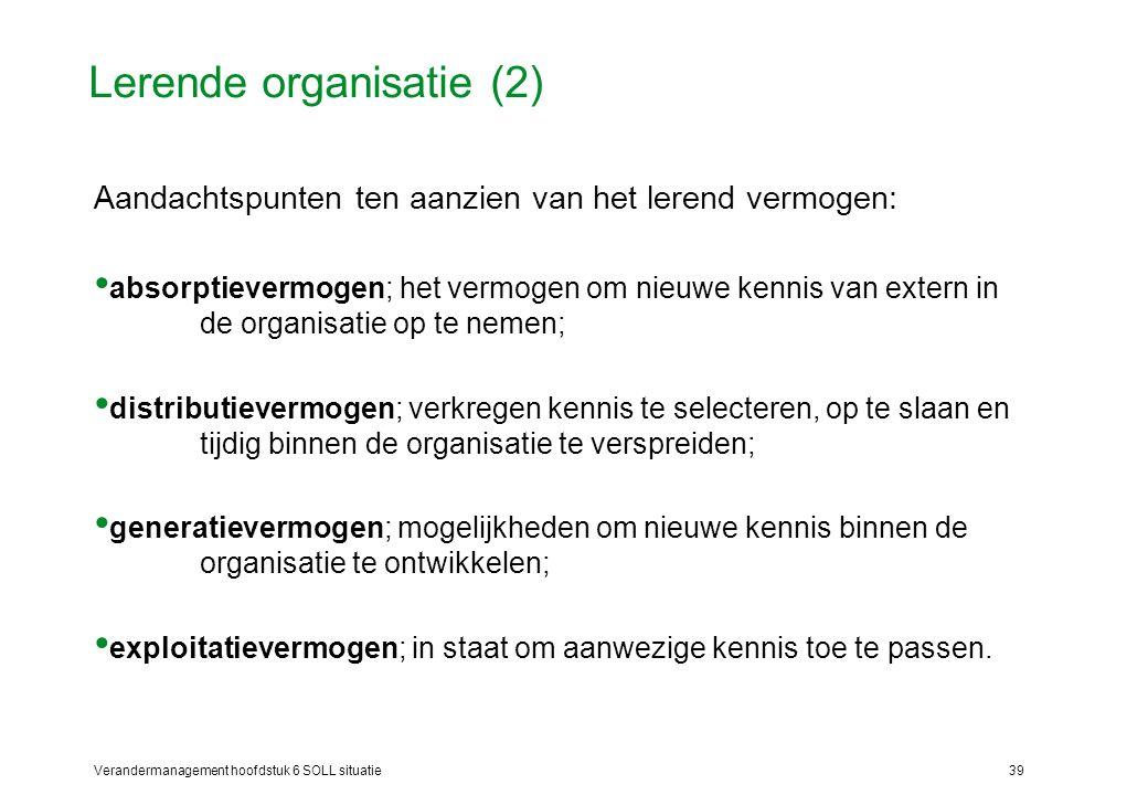 Lerende organisatie (2)
