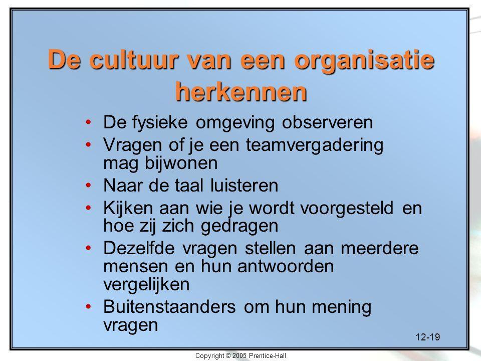 De cultuur van een organisatie herkennen