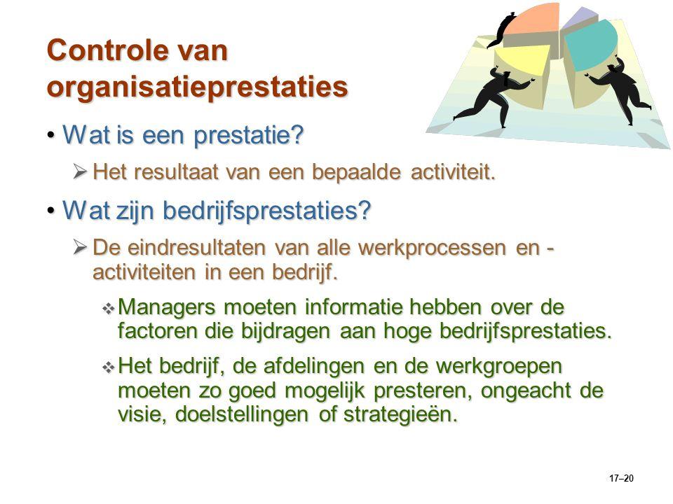 Controle van organisatieprestaties