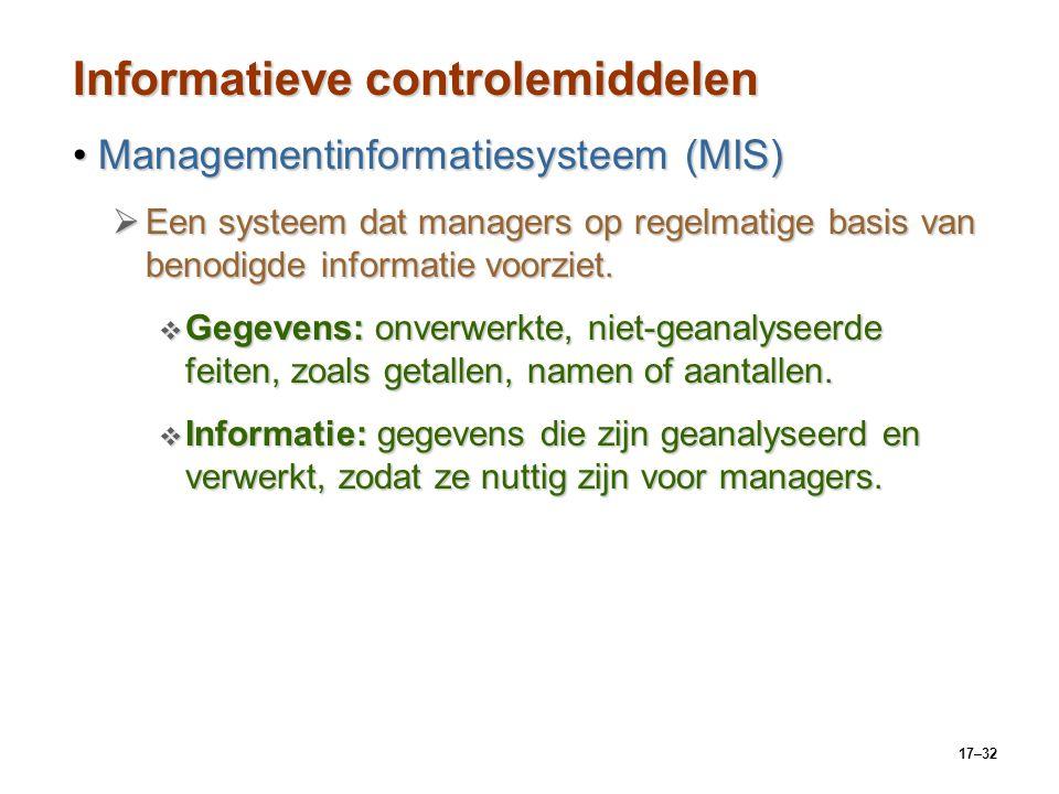 Informatieve controlemiddelen