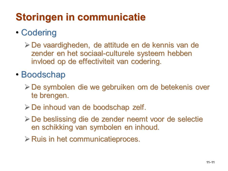 Storingen in communicatie