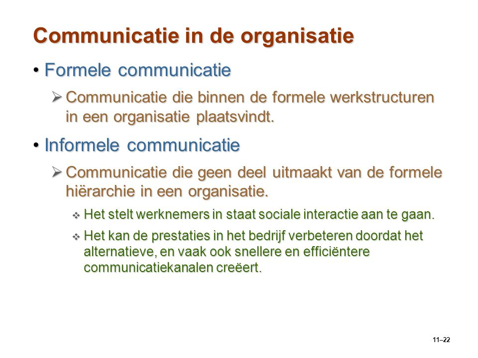 Communicatie in de organisatie