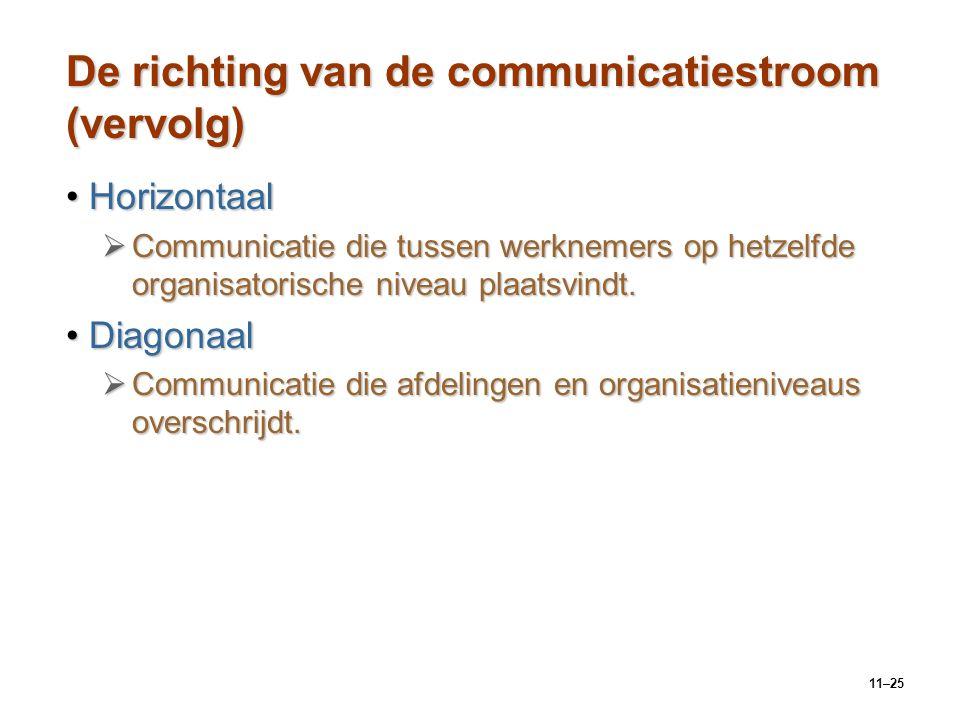 De richting van de communicatiestroom (vervolg)