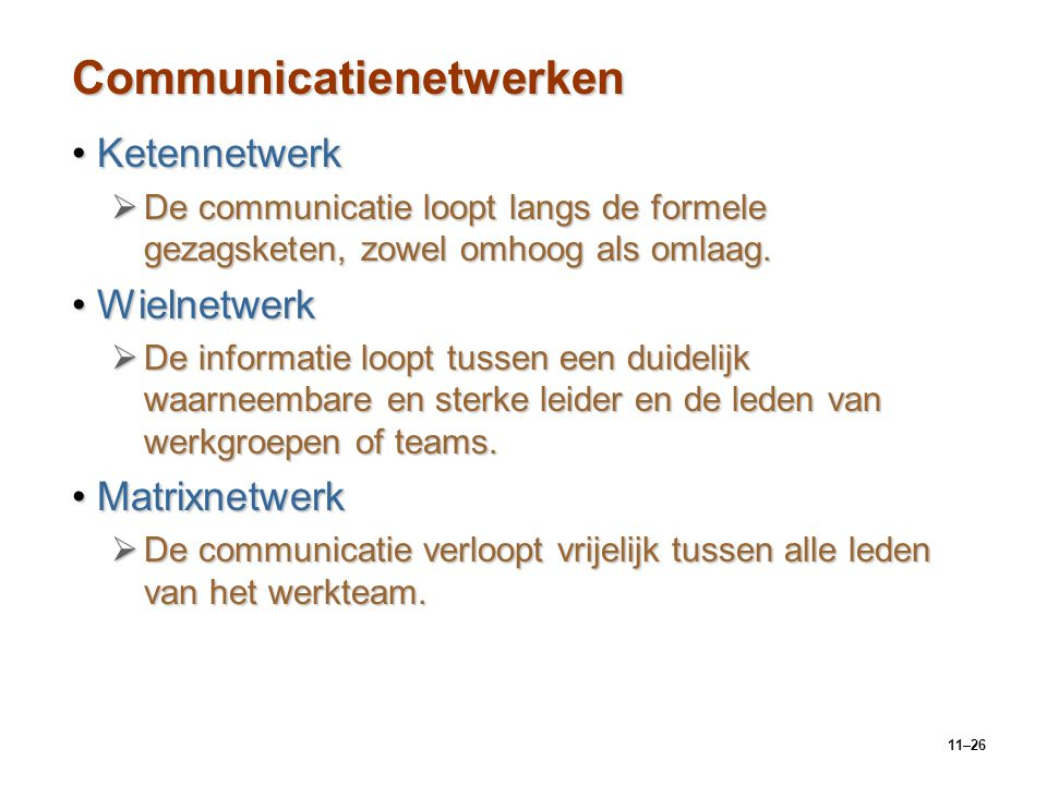 Communicatienetwerken