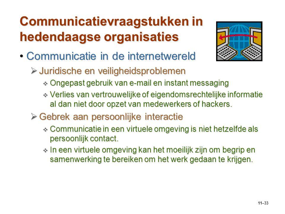 Communicatievraagstukken in hedendaagse organisaties