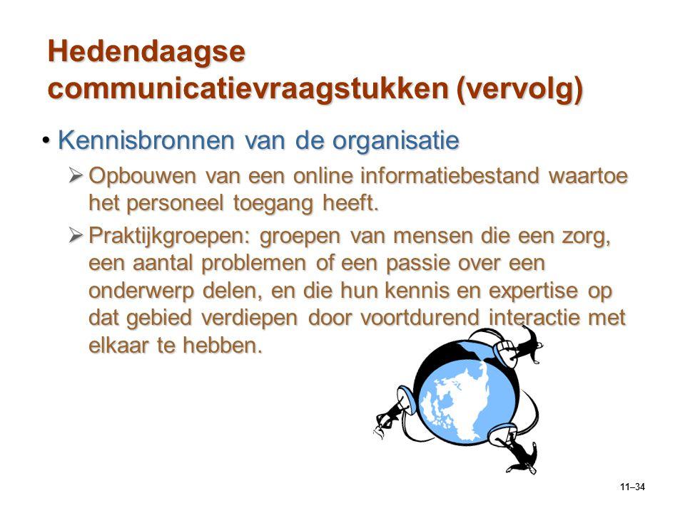 Hedendaagse communicatievraagstukken (vervolg)