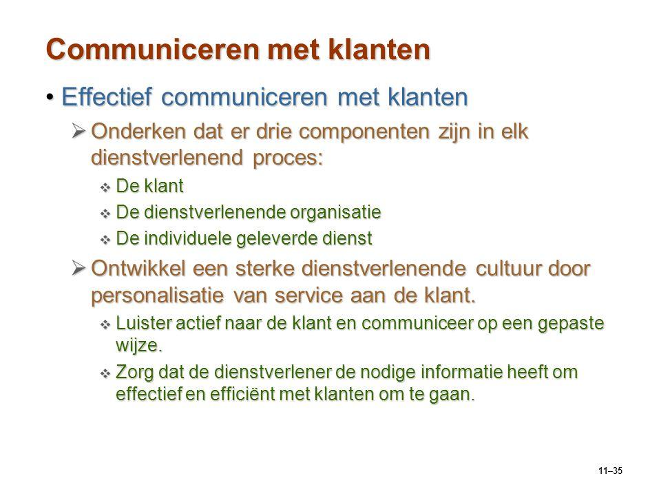 Communiceren met klanten