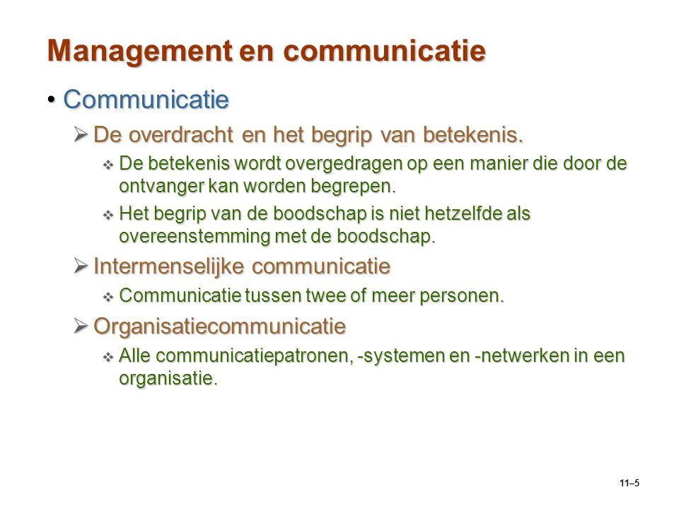 Management en communicatie