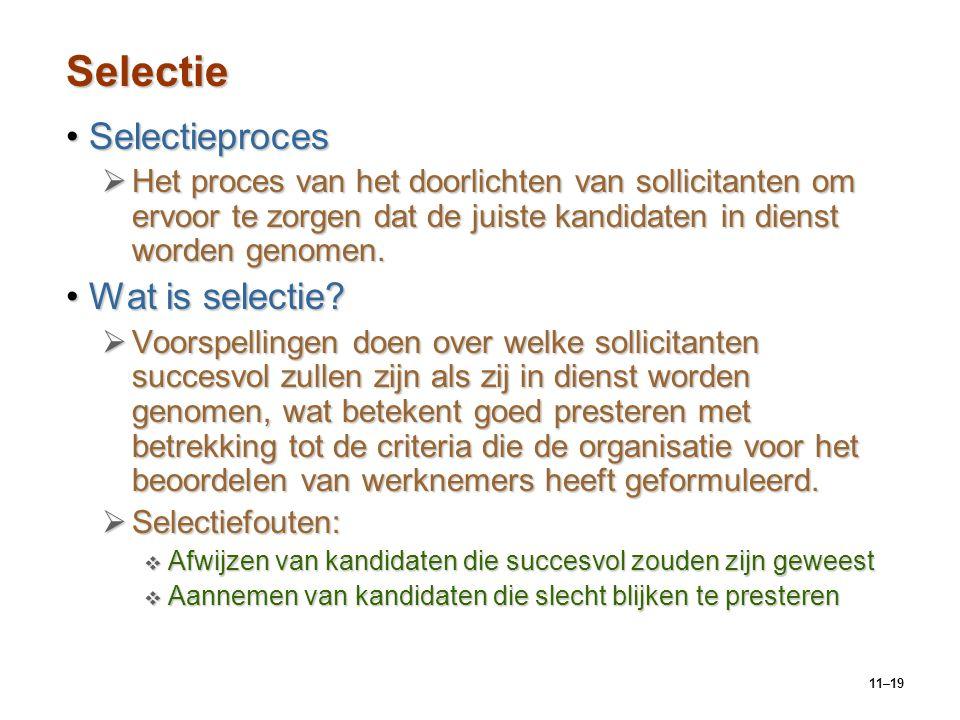 Selectie Selectieproces Wat is selectie