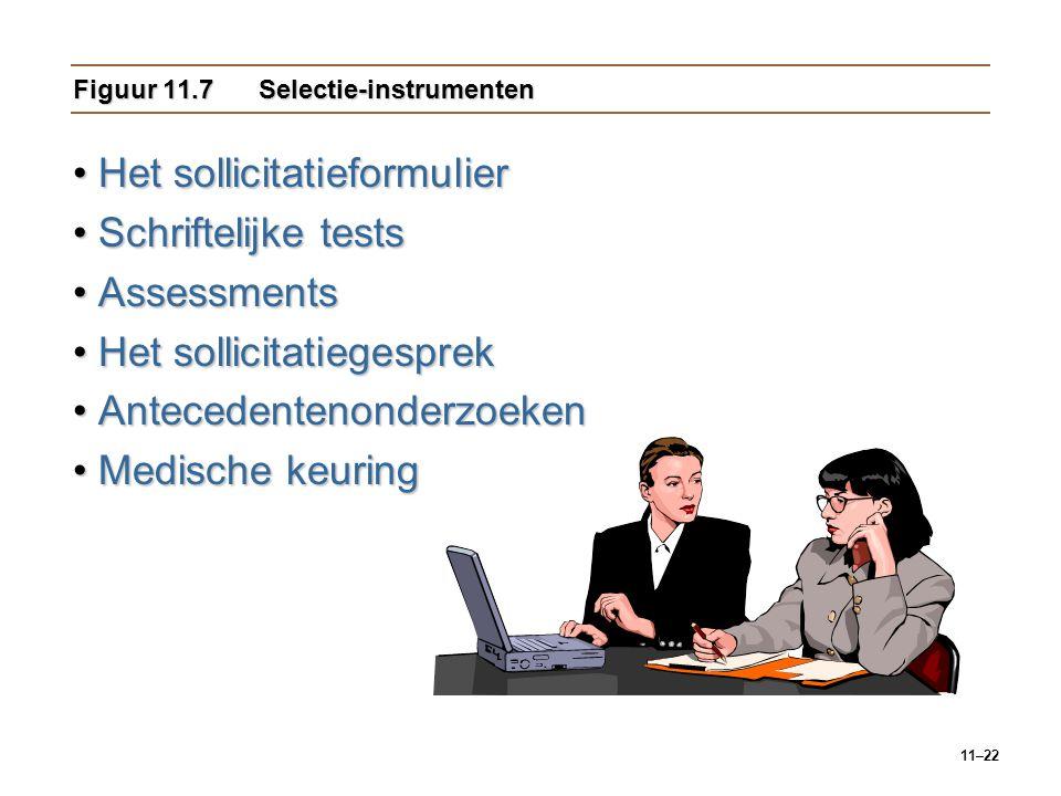 Figuur 11.7 Selectie-instrumenten