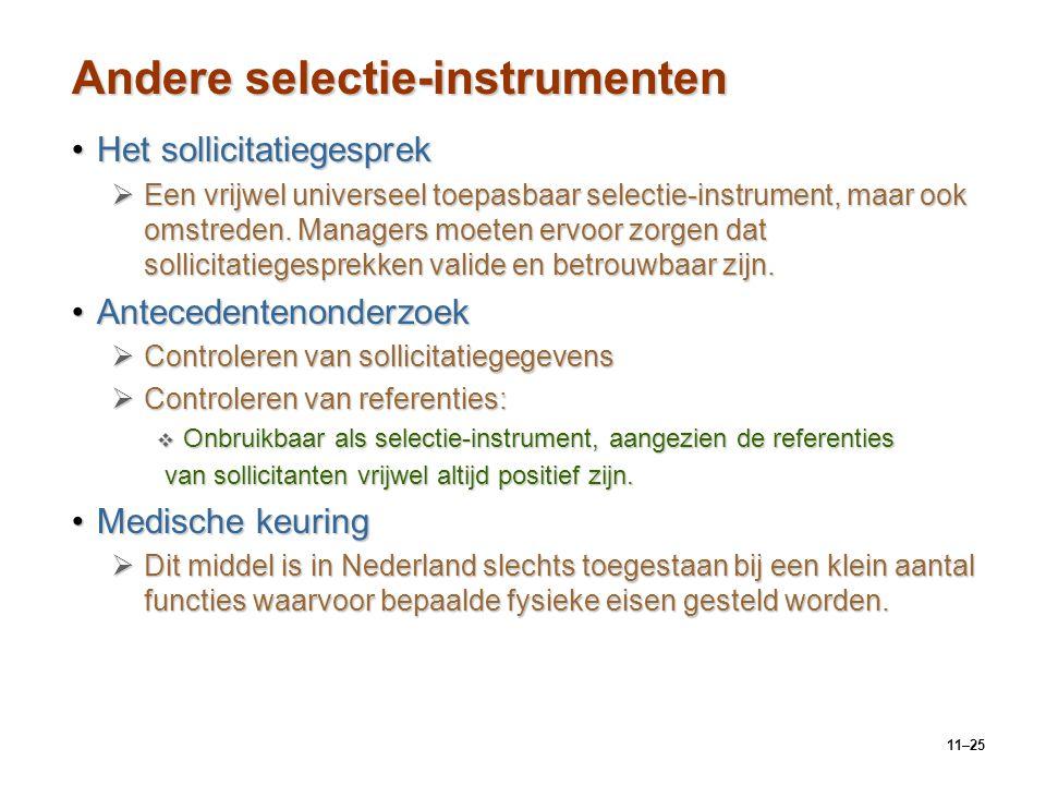 Andere selectie-instrumenten