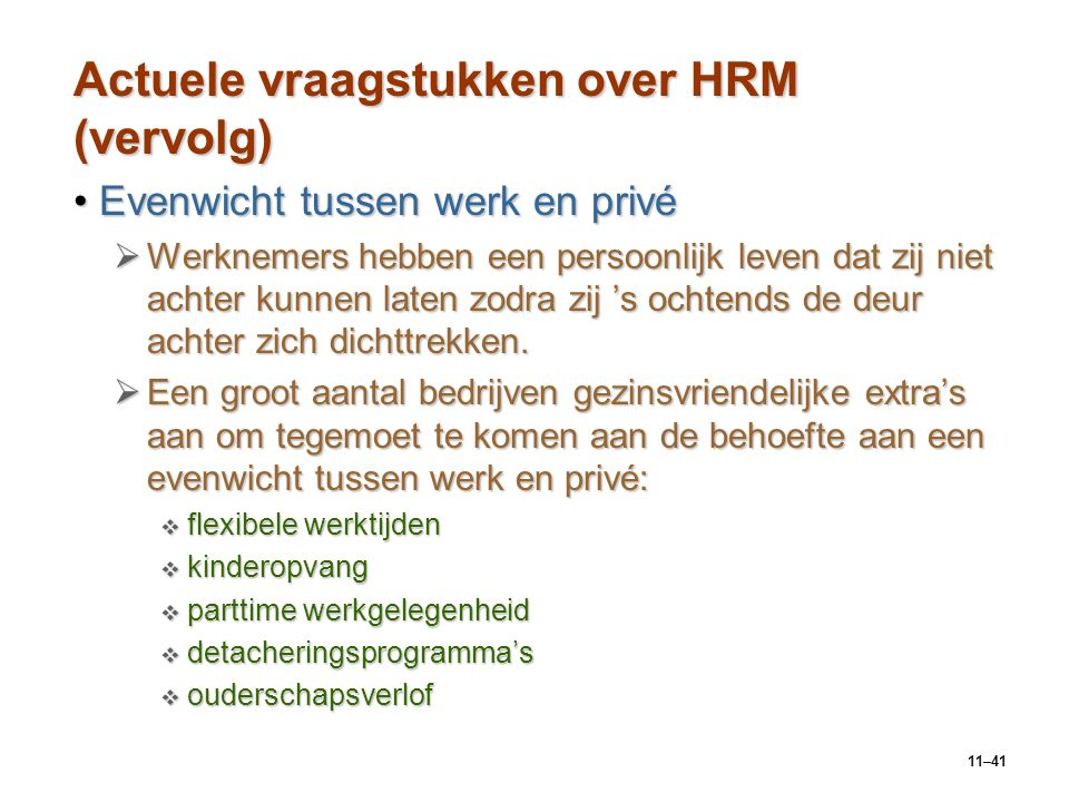 Actuele vraagstukken over HRM (vervolg)