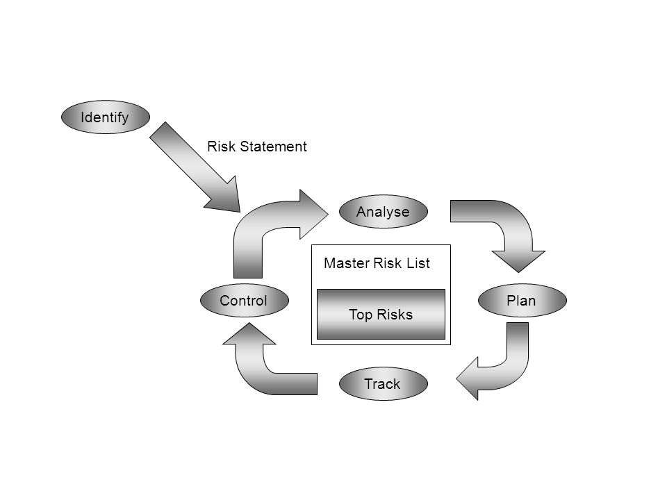 Identify Risk Statement Analyse Master Risk List Control Plan