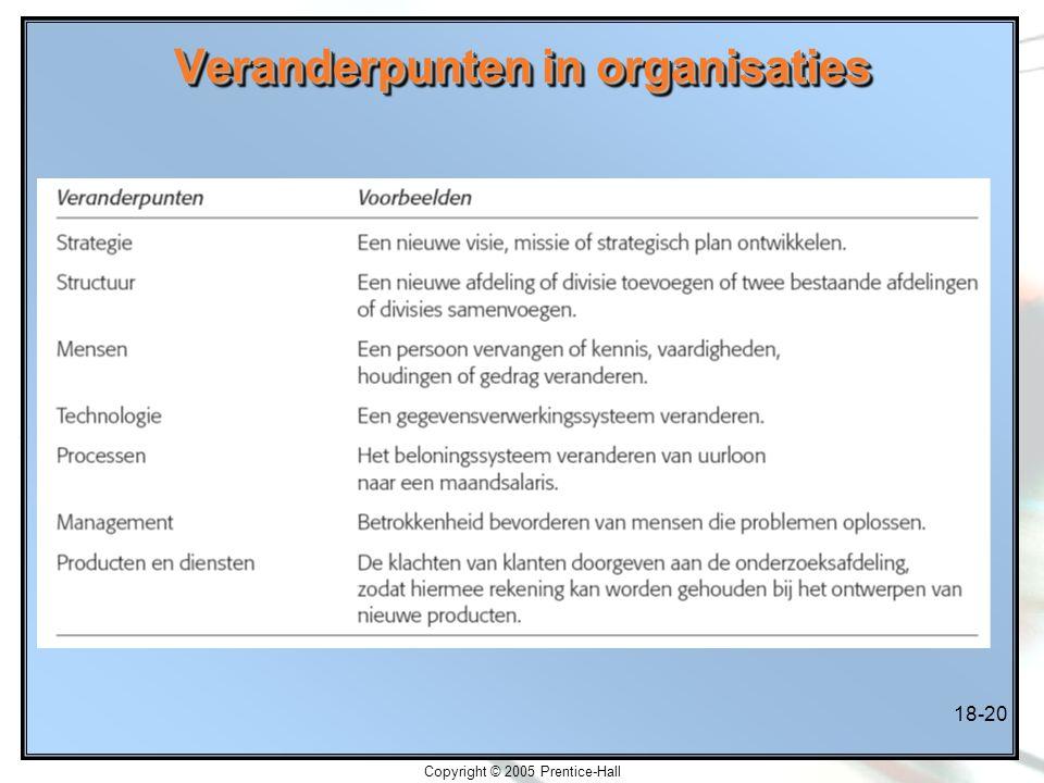 Veranderpunten in organisaties