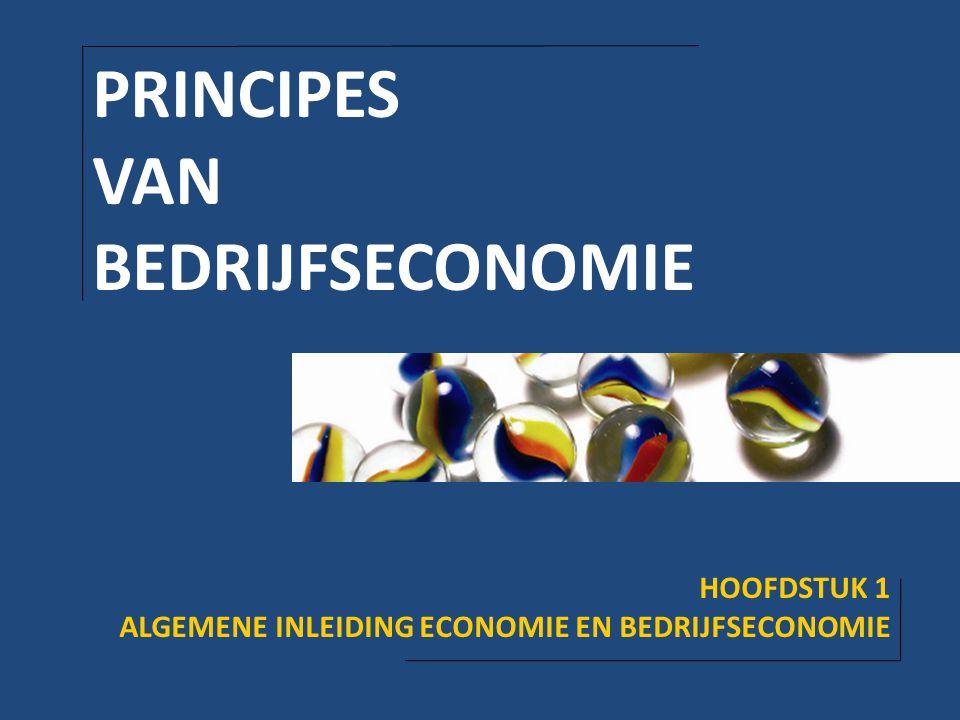 PRINCIPES VAN BEDRIJFSECONOMIE HOOFDSTUK 1