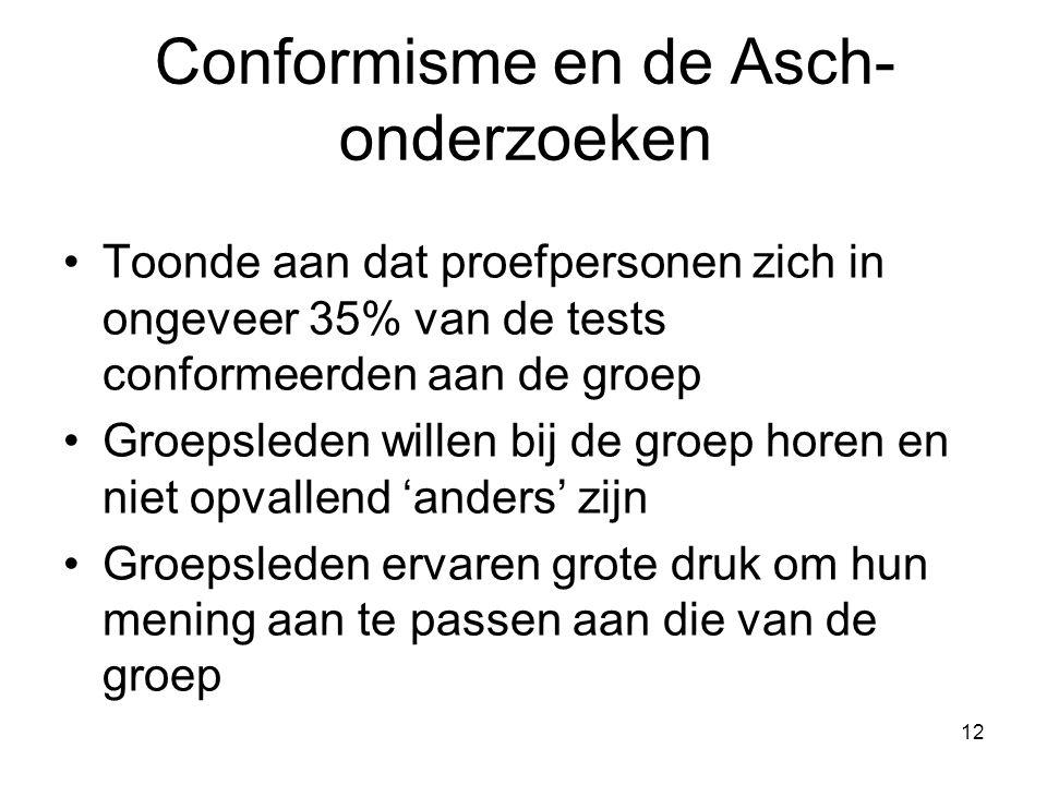 Conformisme en de Asch-onderzoeken