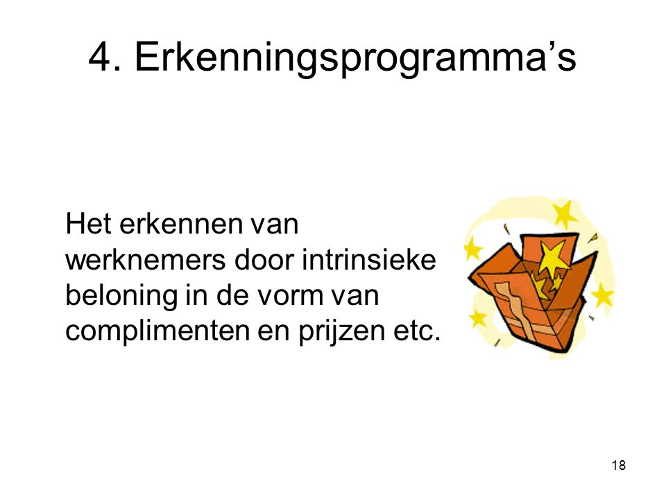 4. Erkenningsprogramma's