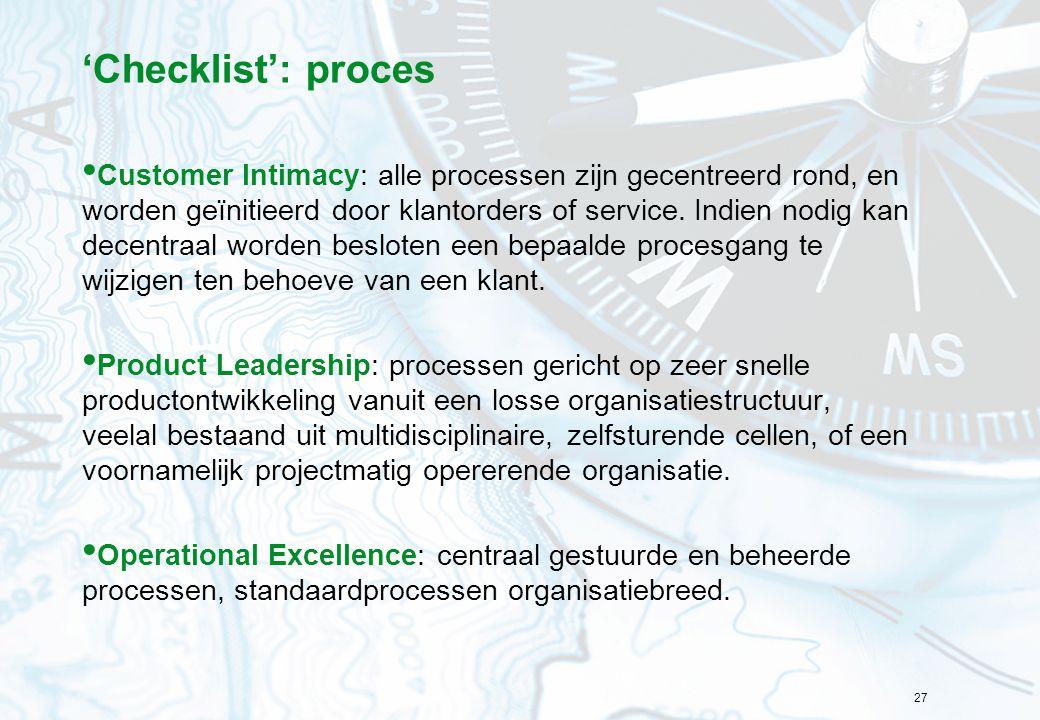 'Checklist': proces