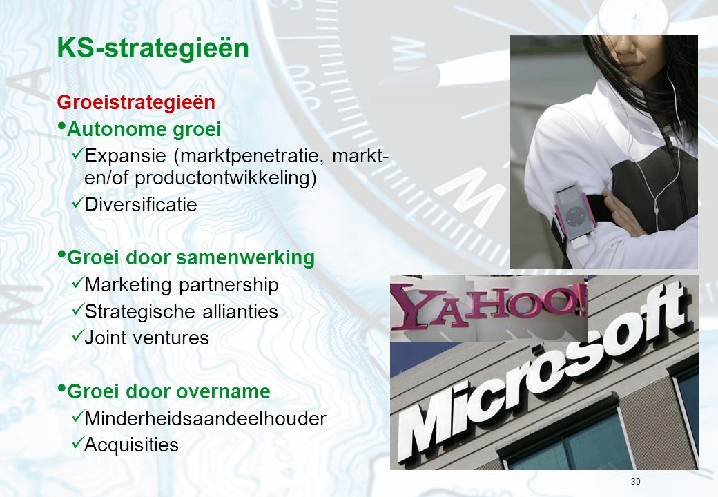KS-strategieën Groeistrategieën Autonome groei