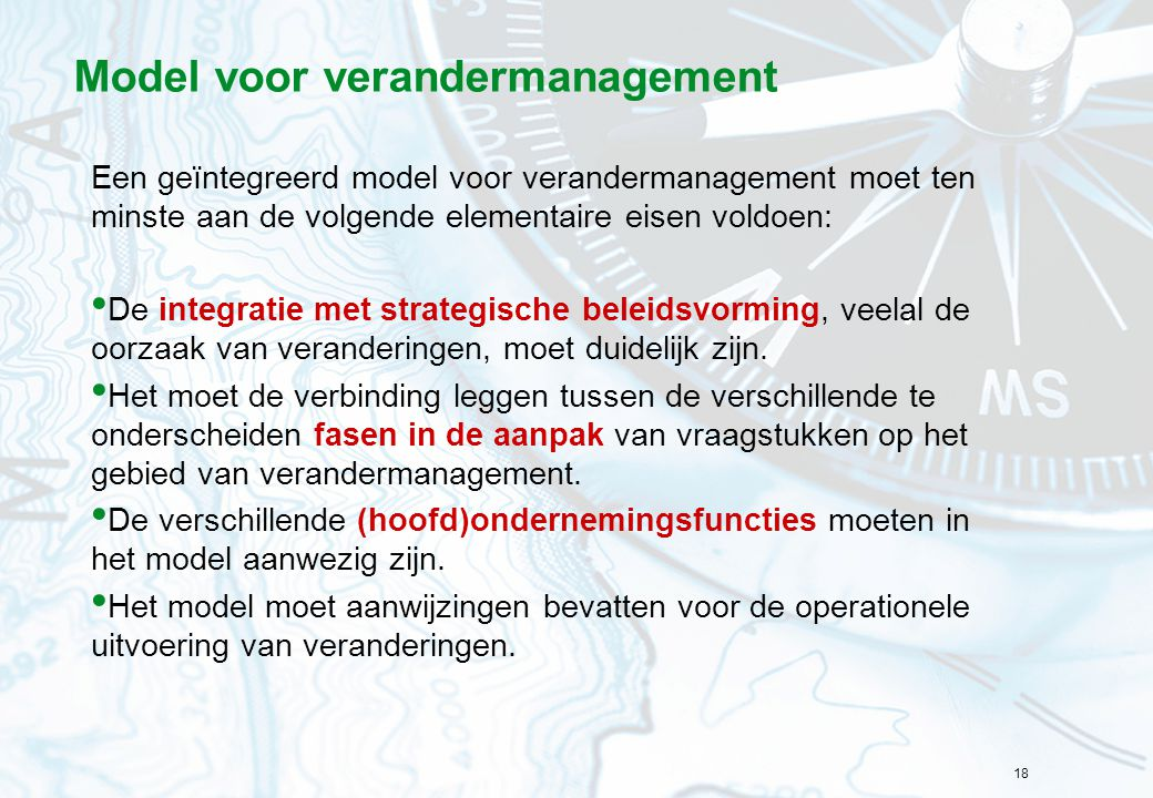 Model voor verandermanagement
