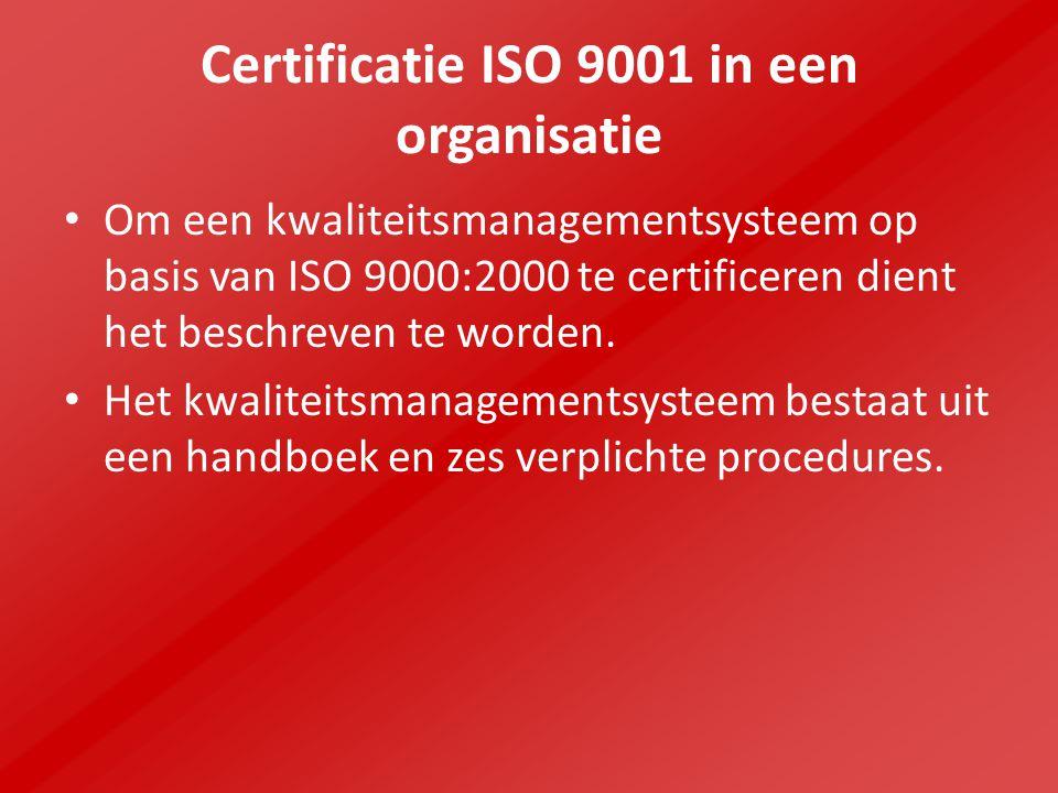 Certificatie ISO 9001 in een organisatie