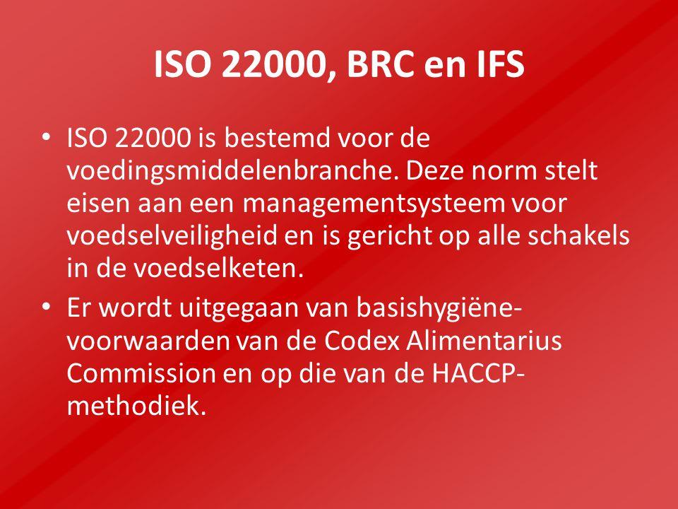 ISO 22000, BRC en IFS