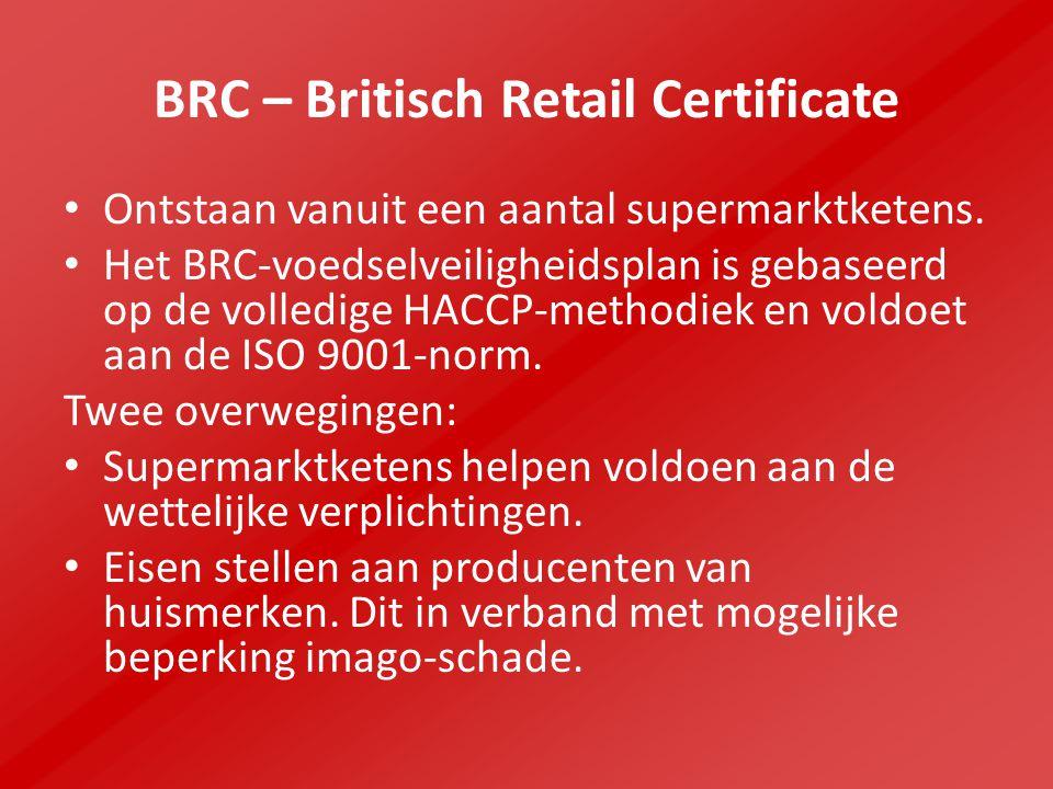 BRC – Britisch Retail Certificate
