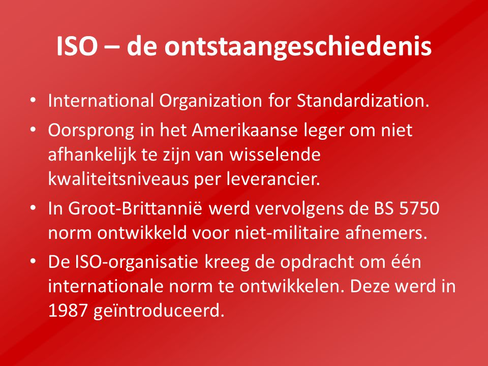 ISO – de ontstaangeschiedenis