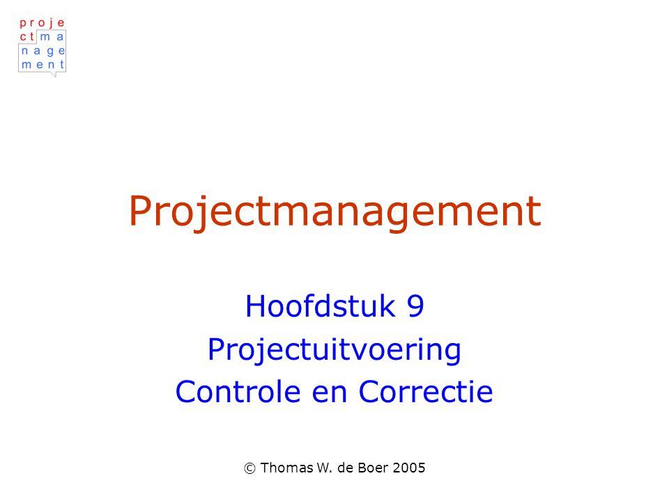 Hoofdstuk 9 Projectuitvoering Controle en Correctie