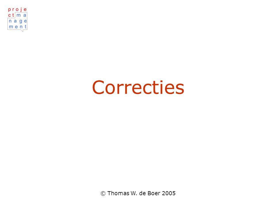 Correcties © Thomas W. de Boer 2005