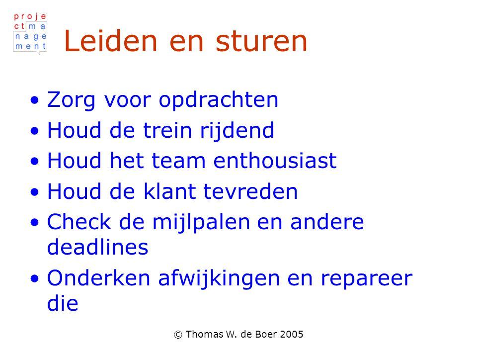 Leiden en sturen Zorg voor opdrachten Houd de trein rijdend
