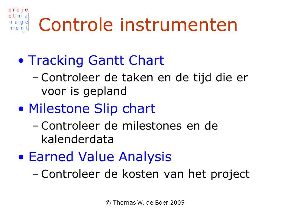 Controle instrumenten