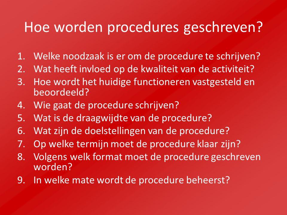 Hoe worden procedures geschreven