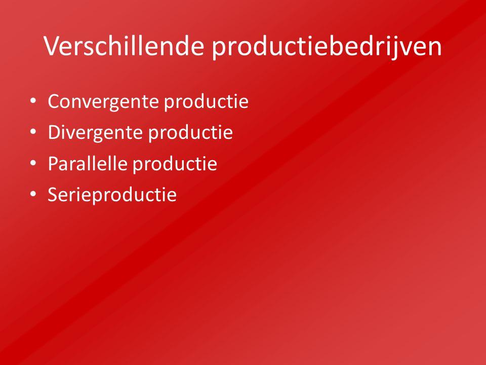 Verschillende productiebedrijven