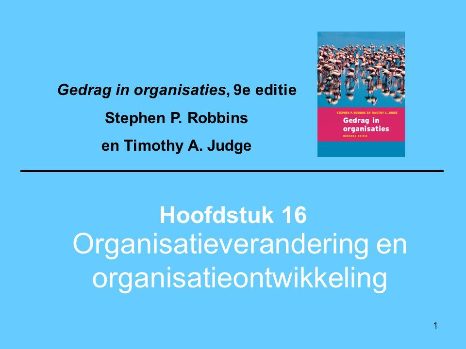 Organisatieverandering en organisatieontwikkeling
