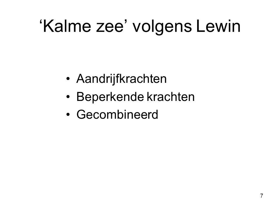 'Kalme zee' volgens Lewin