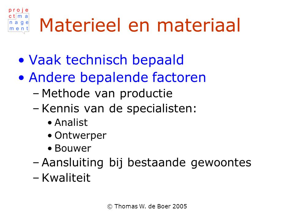 Materieel en materiaal
