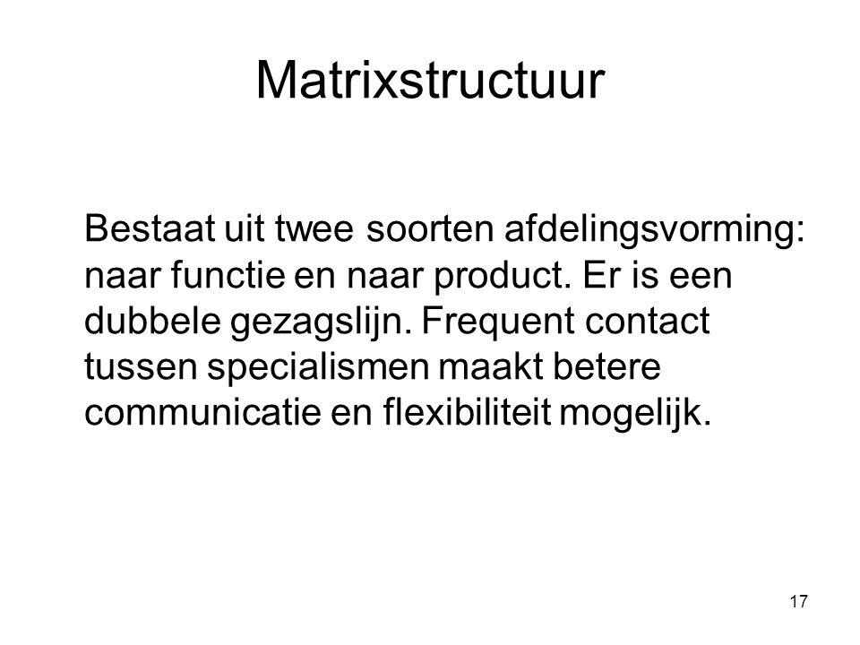 Matrixstructuur