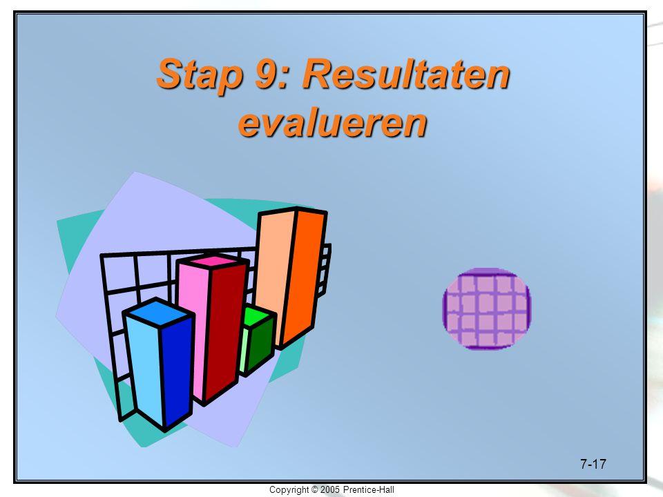 Stap 9: Resultaten evalueren