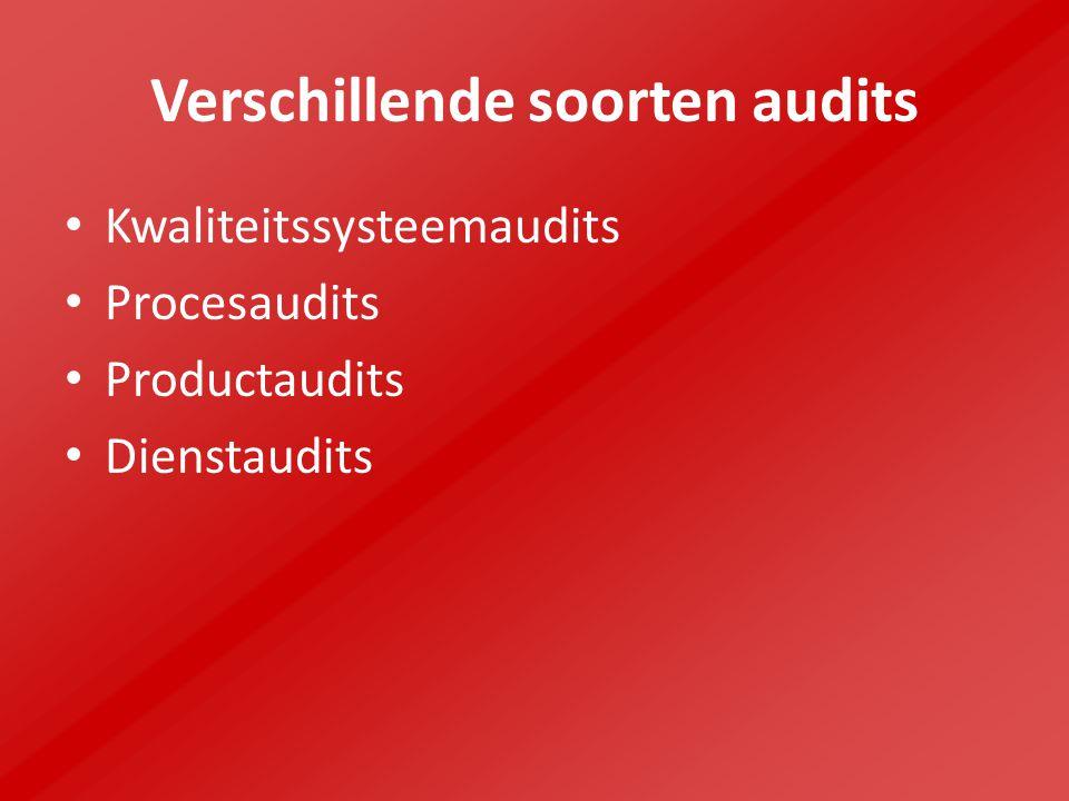 Verschillende soorten audits