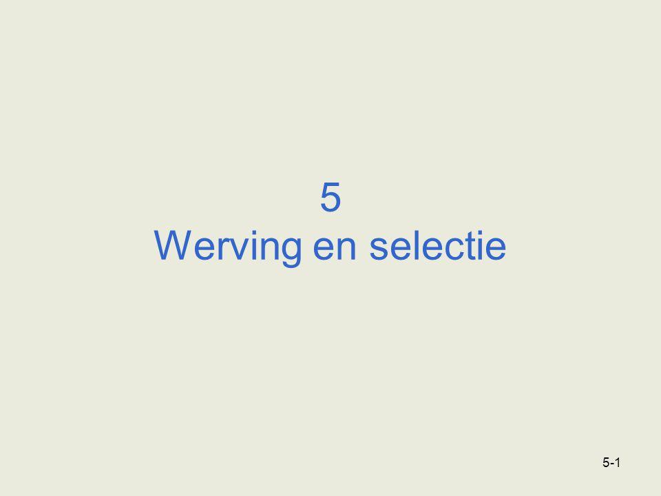 5 Werving en selectie