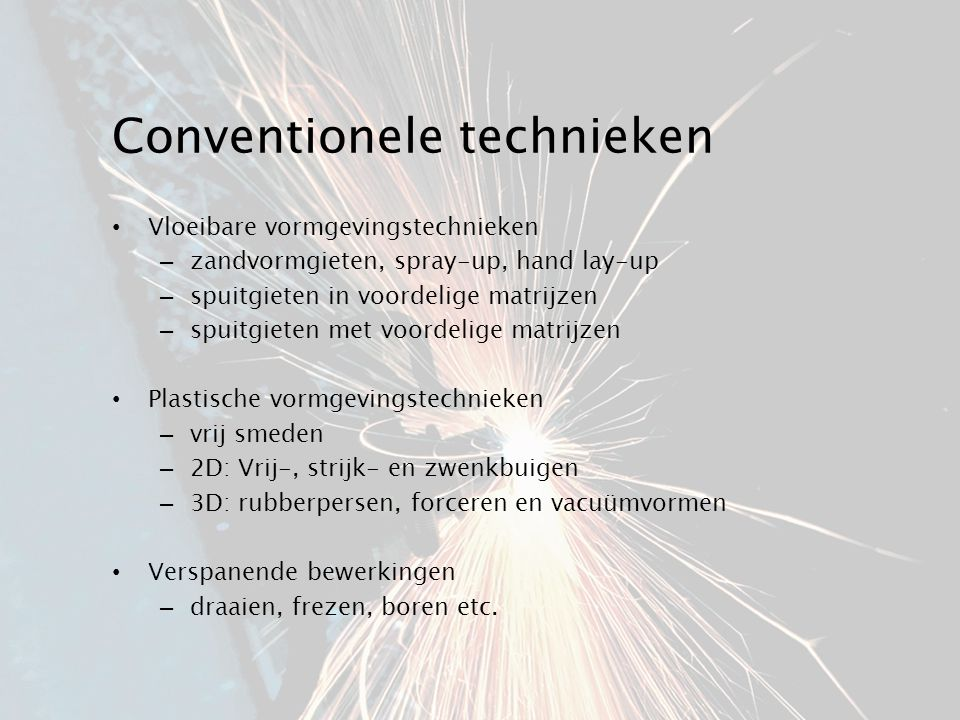 Conventionele technieken
