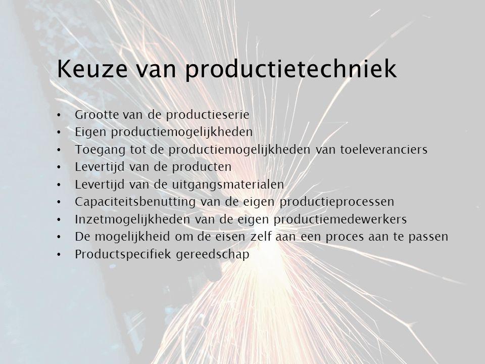 Keuze van productietechniek