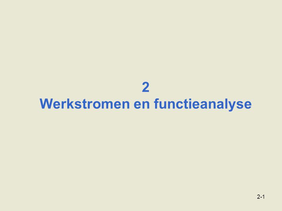 2 Werkstromen en functieanalyse