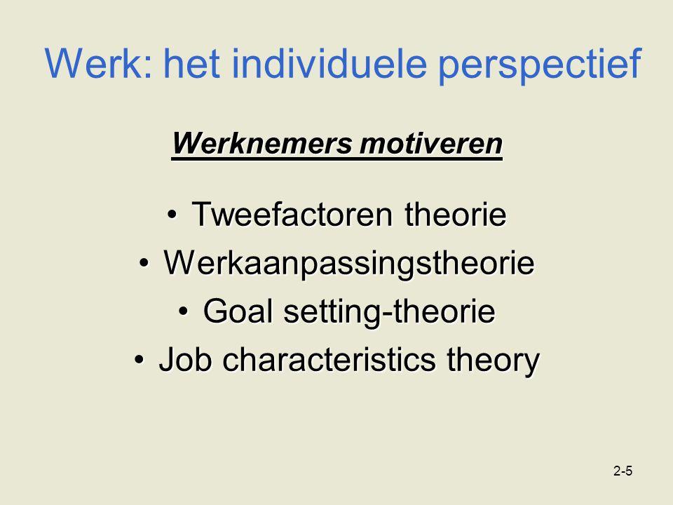Werk: het individuele perspectief