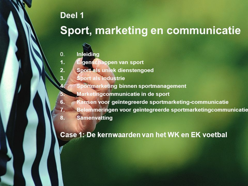 Sport, marketing en communicatie