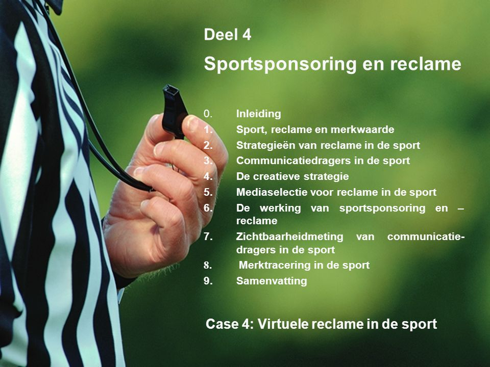 Sportsponsoring en reclame