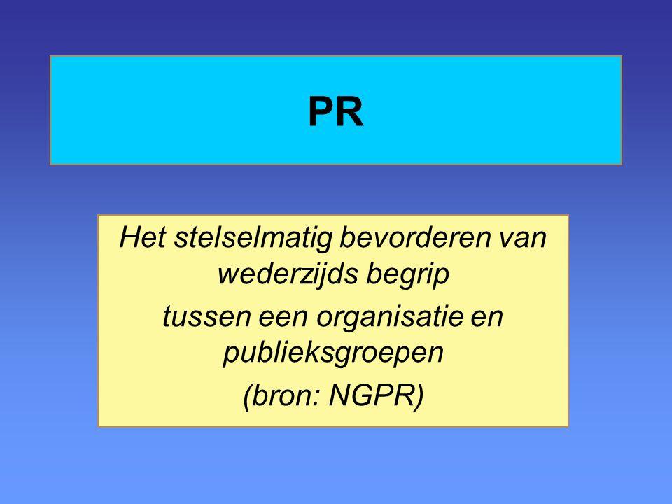 PR Het stelselmatig bevorderen van wederzijds begrip