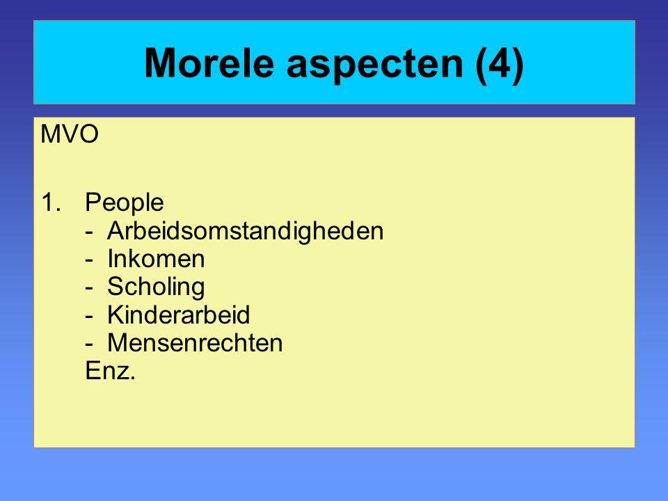 Morele aspecten (4) MVO.